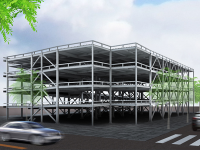 駐車場パース